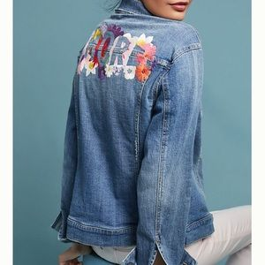 Pilcro and the letter press amore denim jacket